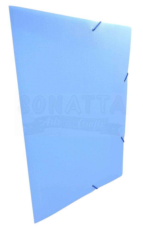 Pasta Aba Elástico Ofício Dello Linho Serena Azul Pastel 0246BP
