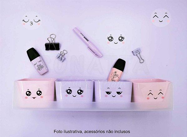 Mini Kit Doçura com 4 Porta Objetos Dello Rosa e Lilás 2290SS