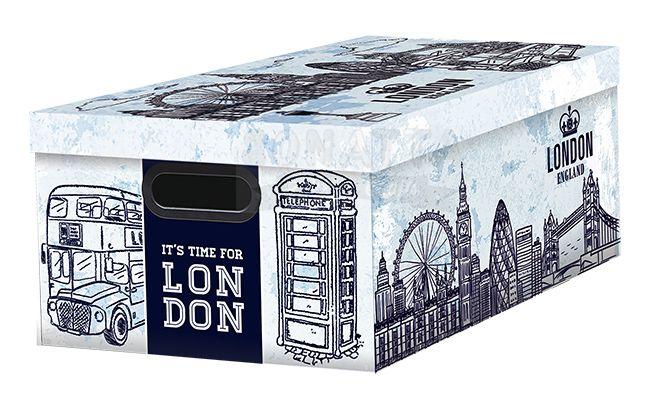 Caixa Organizadora Média Dello Mundi Azul London 2183C