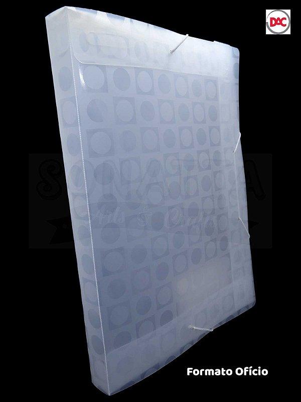 Pasta Ofício Lombo 3cm Decorada DAC Vision Transparente 303TR