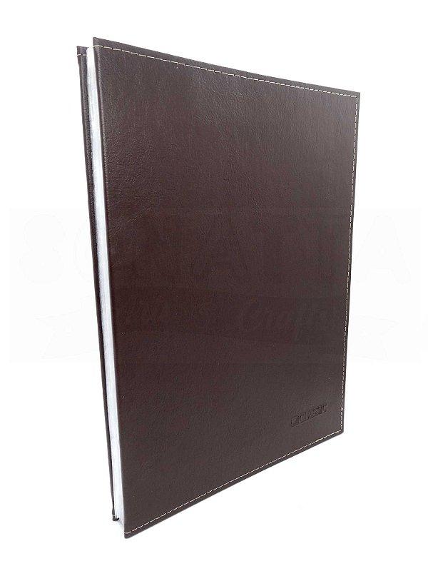 Pasta Catálogo Ofício DAC sem Lombo Classic Marrom 6039MR
