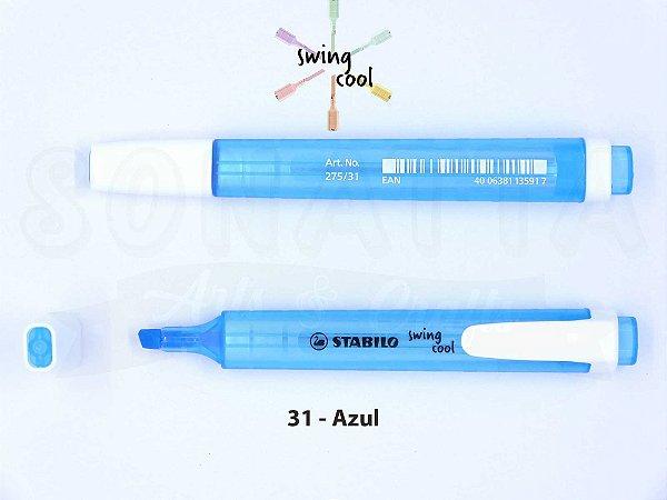 Marcador de Texto STABILO Swing Cool - Azul 31