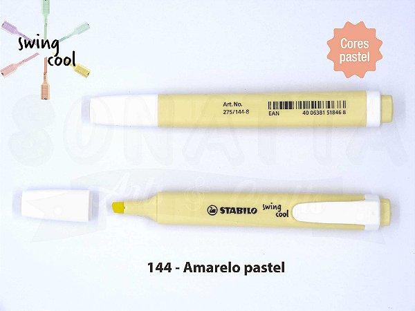 Marcador de Texto STABILO Swing Cool Pastel - Amarelo 144