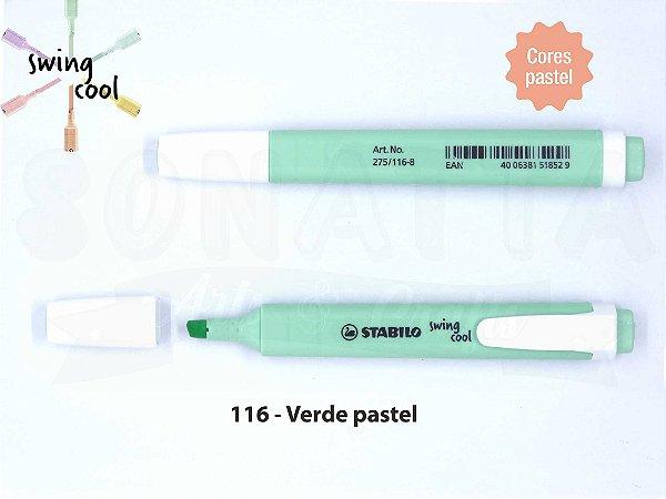 Marcador de Texto STABILO Swing Cool Pastel - Verde 116