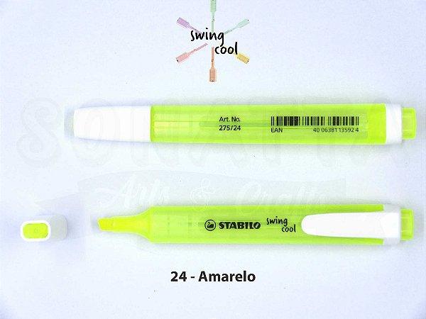 Marcador de Texto STABILO Swing Cool - Amarelo 24