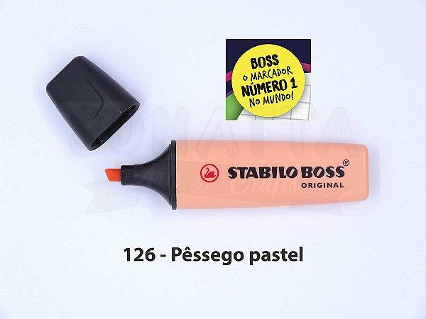 Marcador de Texto STABILO Boss Pastel - Pêssego 126