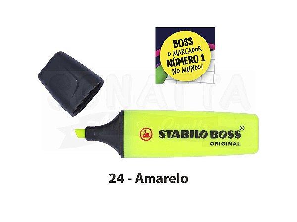 Marcador de Texto STABILO Boss Original - Amarelo 24
