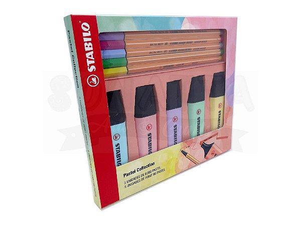 Kit Pastel Collection STABILO (5 Boss + 5 Point 88) com 10 un