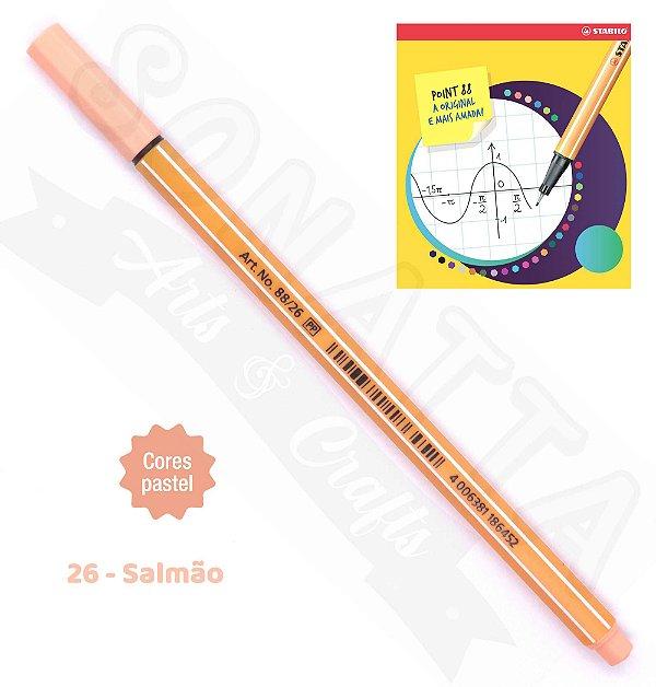 Caneta STABILO Point 88 Pastel - Salmão 26