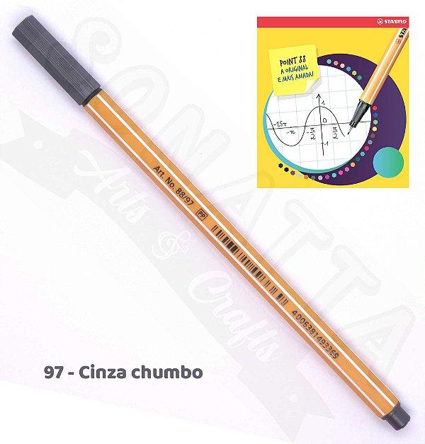 Caneta STABILO Point 88 - Cinza Chumbo 97