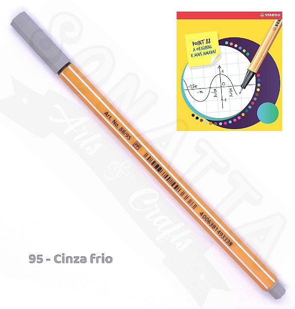 Caneta STABILO Point 88 - Cinza Frio 95