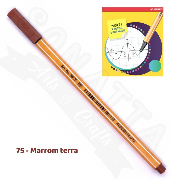 Caneta STABILO Point 88 - Marrom Terra 75