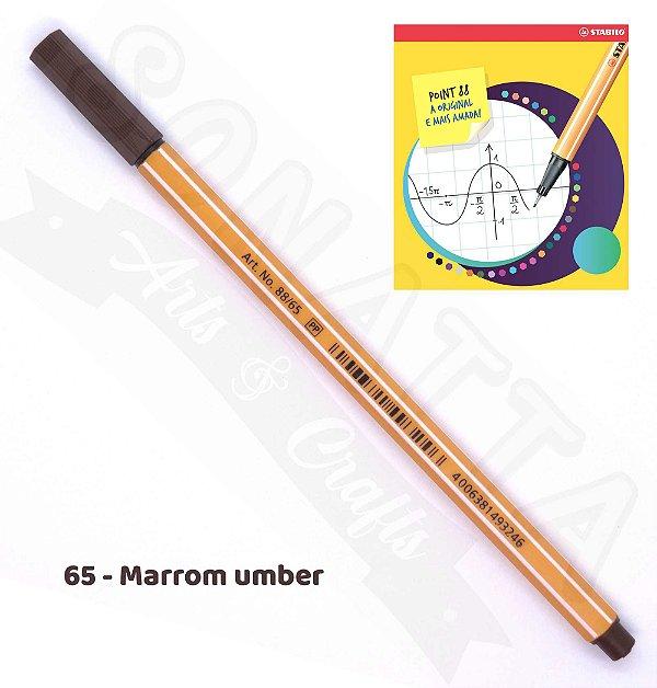 Caneta STABILO Point 88 - Marrom Umber 65