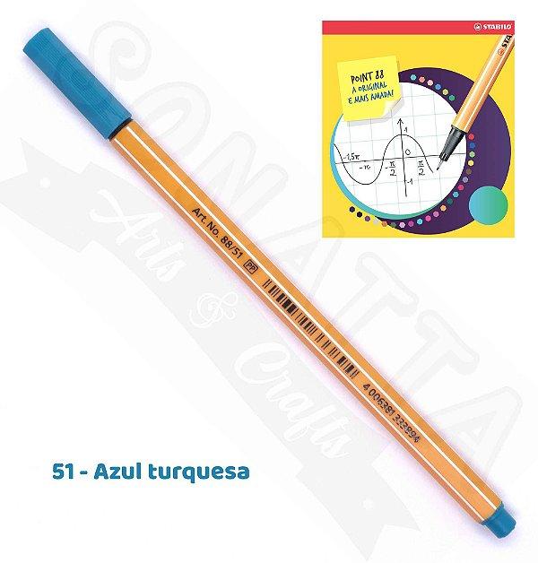Caneta STABILO Point 88 - Azul Turquesa 51