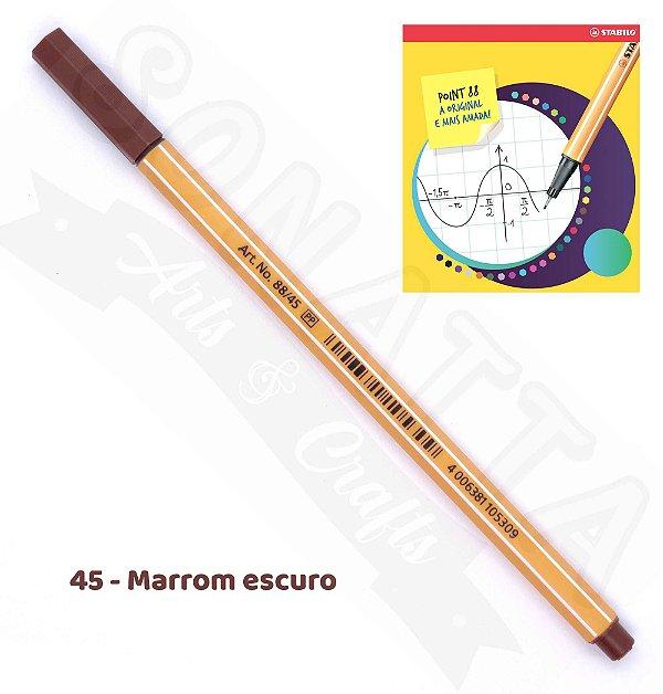 Caneta STABILO Point 88 - Marrom Escuro 45