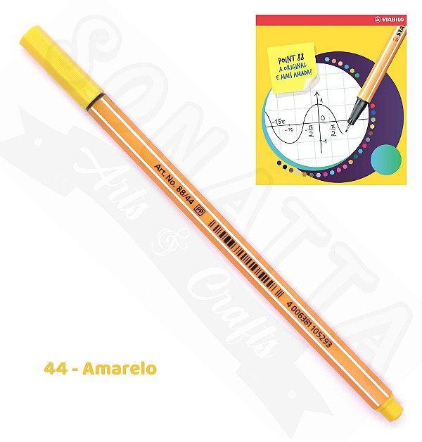 Caneta STABILO Point 88 - Amarelo 44