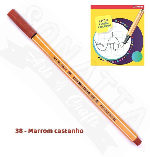 Caneta STABILO Point 88 - Marrom Castanho 38