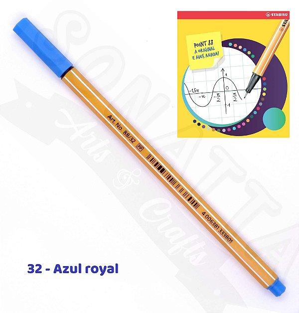 Caneta STABILO Point 88 - Azul Royal 32