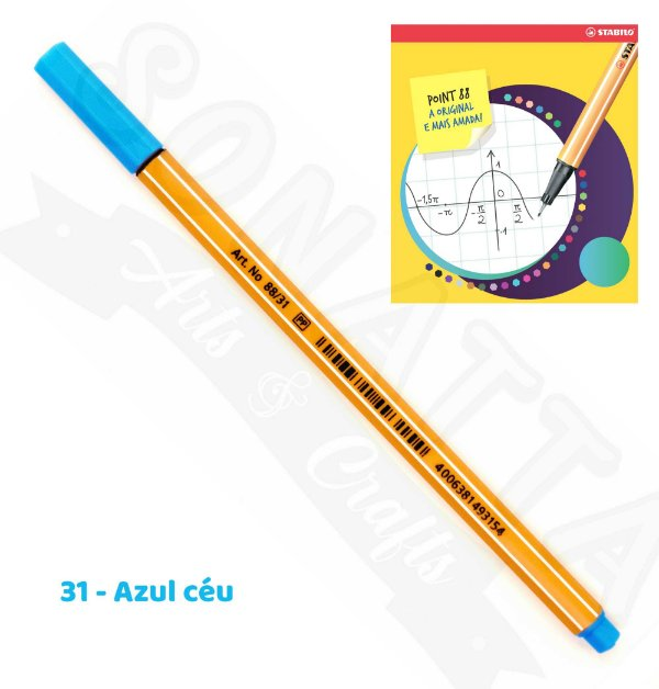Caneta STABILO Point 88 - Azul Céu 31
