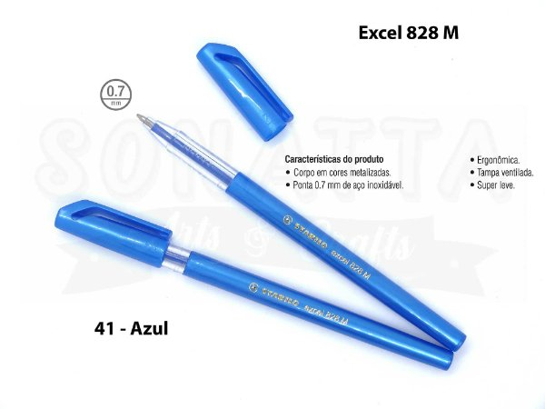 Caneta Esferográfica STABILO Excel 828M - Azul 41