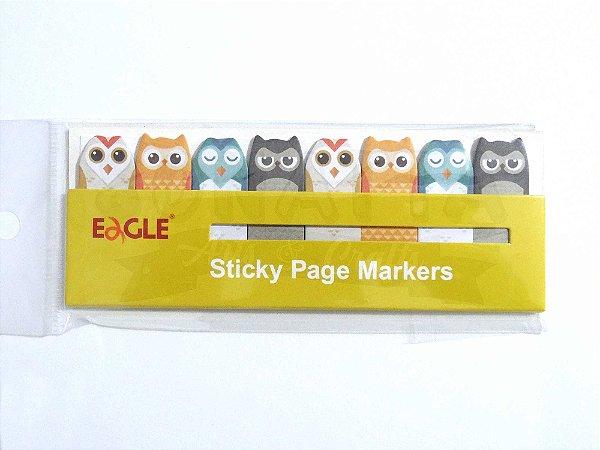 Sticky Page Markers (Marcador de Páginas) EAGLE Corujinha - TYSN7388