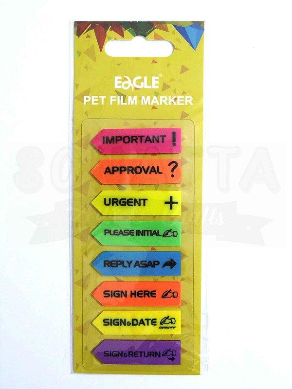 Marcadores de Página EAGLE 8 textos em Inglês - TYSN7372