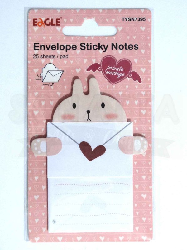 Sticky Notes (Bloco Adesivo) Envelope EAGLE Coelhinho - TYSN7395