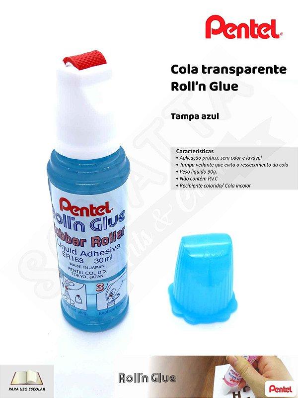 Cola PENTEL Roll'n Glue Azul – ER153-S