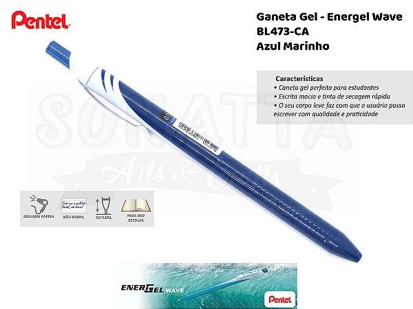 Caneta PENTEL Energel Wave Azul Marinho - BL437-CA