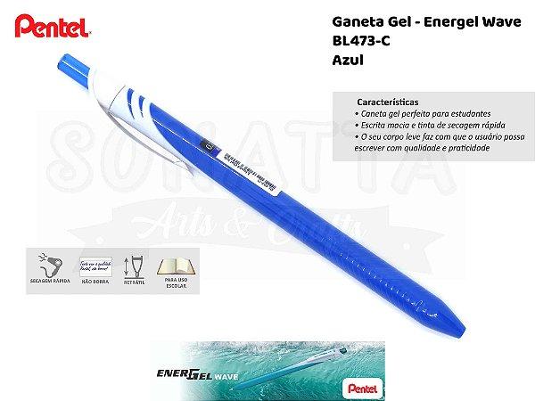 Caneta PENTEL Energel Wave Azul - BL437-C