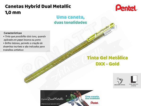 Caneta PENTEL Hybrid Dual Metallic Ouro - K110-DXX