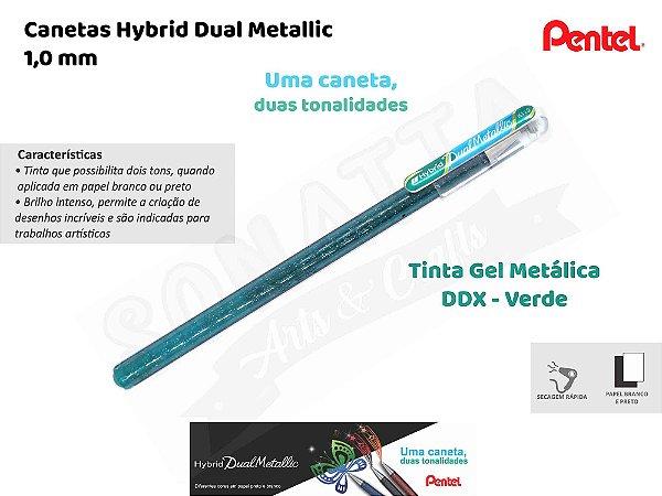 Caneta PENTEL Hybrid Dual Metallic Verde + Azul Metálico - K110-DDX