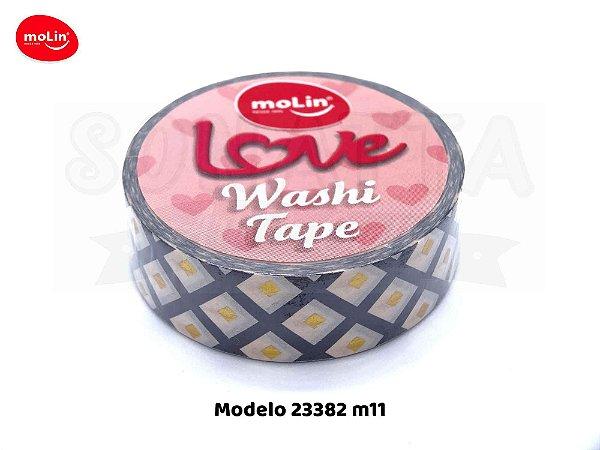 Washi Tape MOLIN Love Avulsa Modelo 11 - 23382
