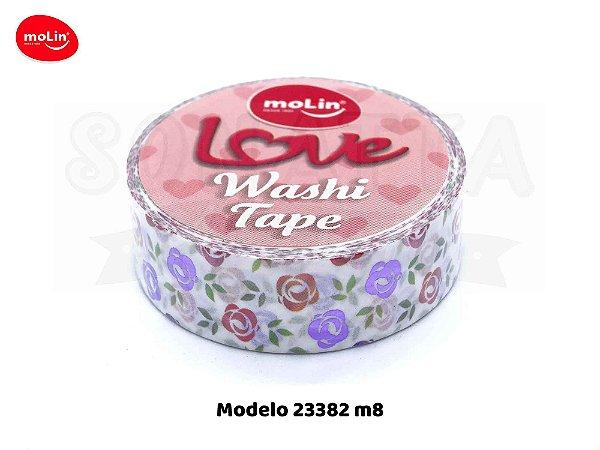 Washi Tape MOLIN Love Avulsa Modelo 8 - 23382