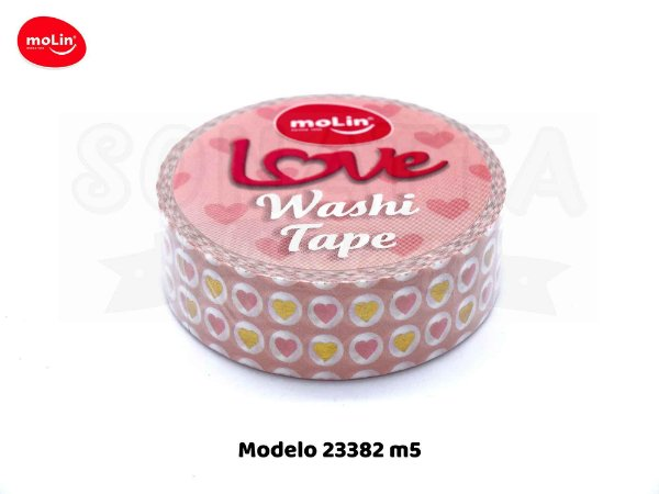 Washi Tape MOLIN Love Avulsa Modelo 5 - 23382
