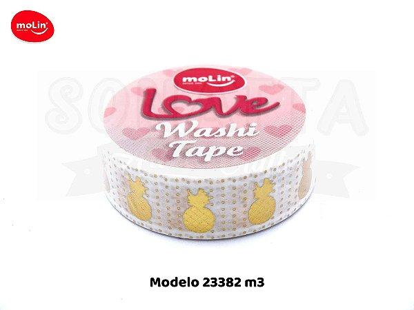 Washi Tape MOLIN Love Avulsa Modelo 3 - 23382