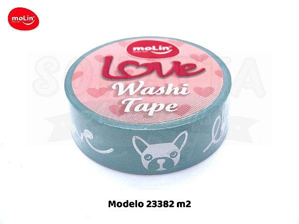 Washi Tape MOLIN Love Avulsa Modelo 2 - 23382