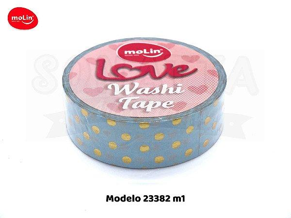 Washi Tape MOLIN Love Avulsa Modelo 1 - 23382