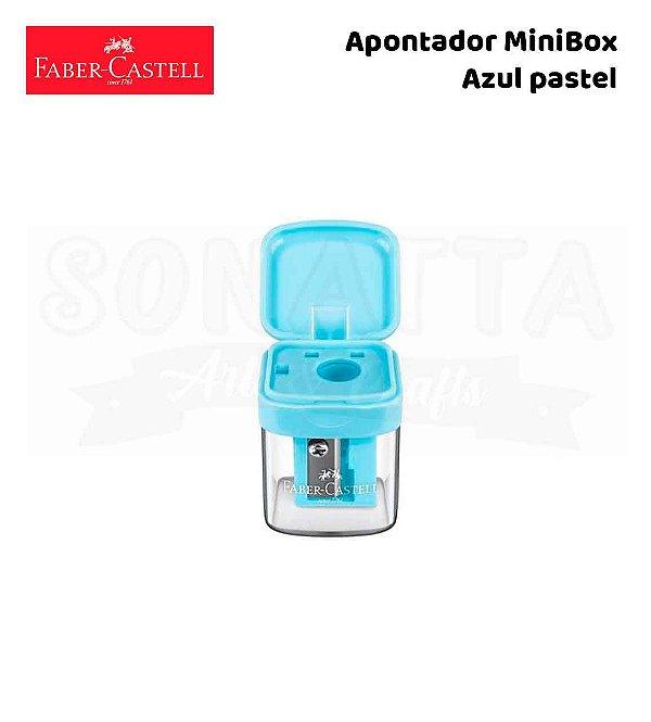 Apontador FABER-CASTELL com Depósito MiniBox - Azul Pastel