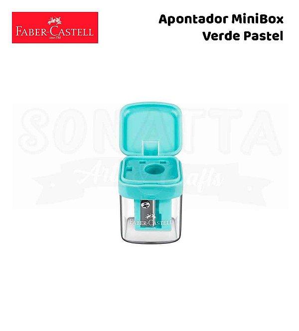 Apontador FABER-CASTELL com Depósito MiniBox - Verde Pastel
