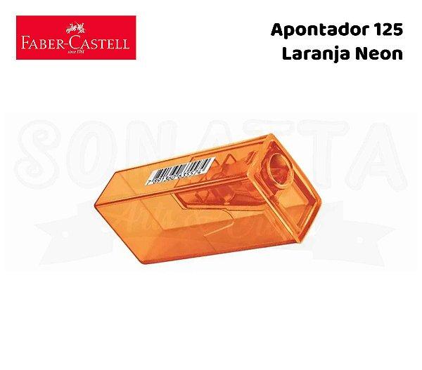 Apontador FABER-CASTELL com Depósito 125FLVZF - Laranja Neon