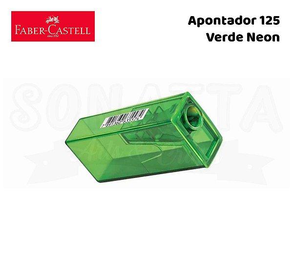 Apontador FABER-CASTELL com Depósito 125FLVZF - Verde Neon