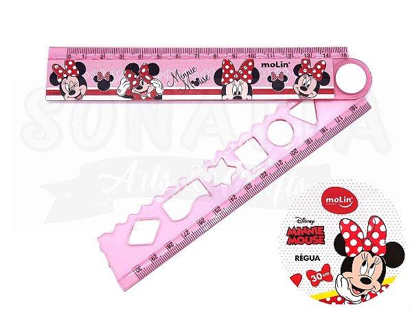 Régua Dobrável Molin Disney Minnie 30cm 22395 - Rosa