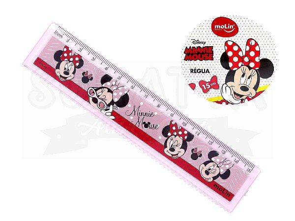 Régua Molin Disney Minnie 15 cm 22394 - Rosa