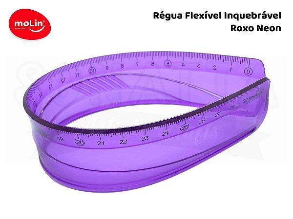 Régua Flexível Molin 30cm 11063 - Roxo Neon