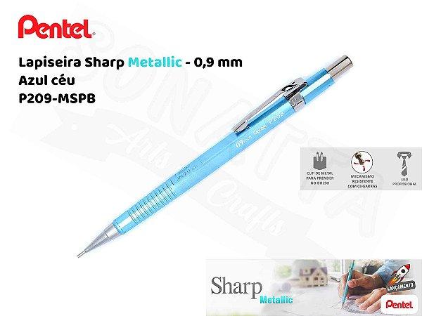 Lapiseira PENTEL Sharp Metallic Azul Céu 0.9mm – P209-MSPB