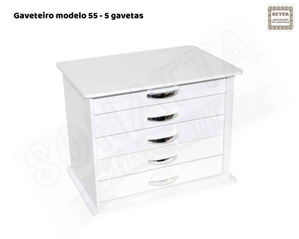 Gaveteiro Beyer 5 gavetas – Modelo 55