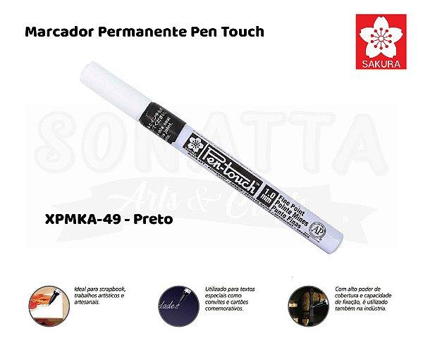 Marcador Artístico Permanente SAKURA Pen Touch XPMKA-49 - Preto