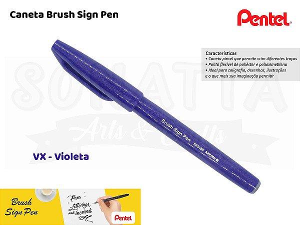 Brush PENTEL Sign Pen Violeta - SES15C-VX