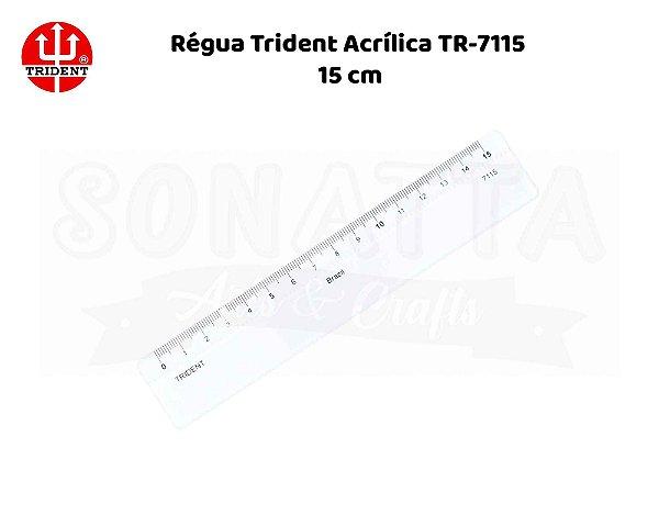 Régua TRIDENT Acrílico 15 cm – 7115